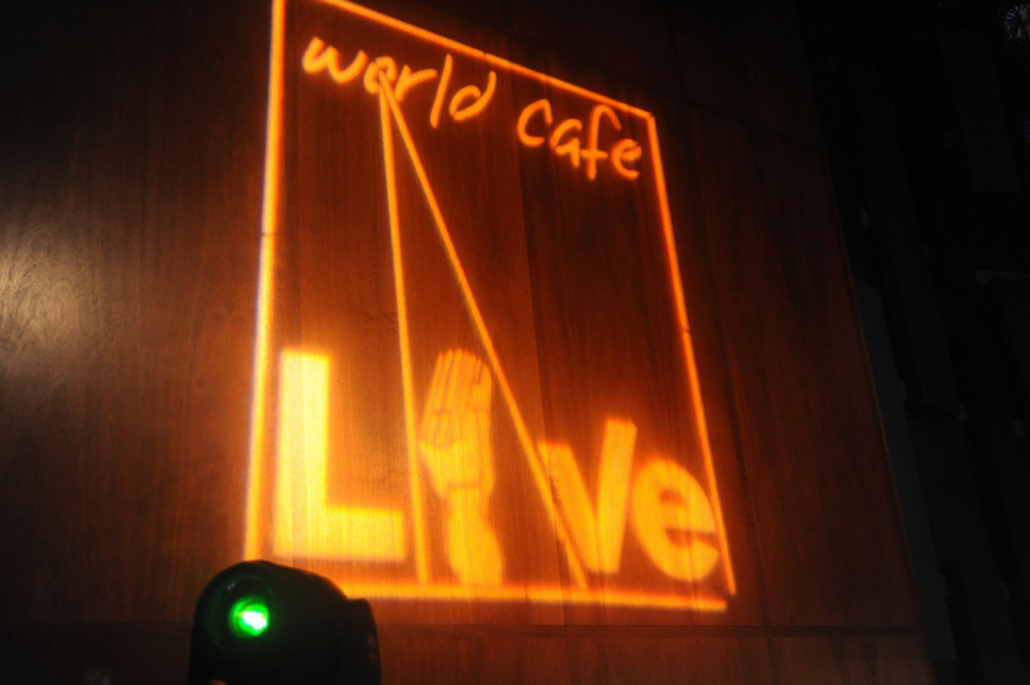 Alex B. performing @ The World Cafe Live