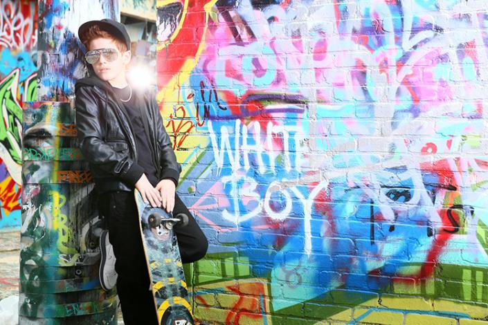 Alex B. ~ Photo Shoot with graffiti