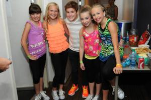 Alex B with Dancers